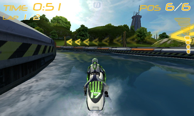 3D-игра Riptide GP на плеере Sony NWZ-F806 Walkman