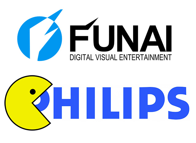 Логотипы Funai PHILIPS