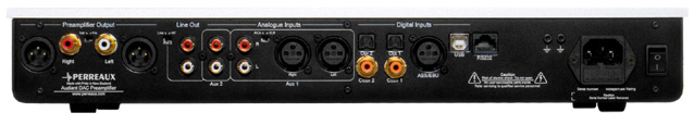 Perreaux Audiant DP32 USB DAC Preamplifier ( разъемы )