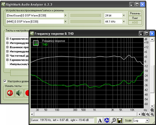 Программа RightMark Audio Analyzer (RMAA)