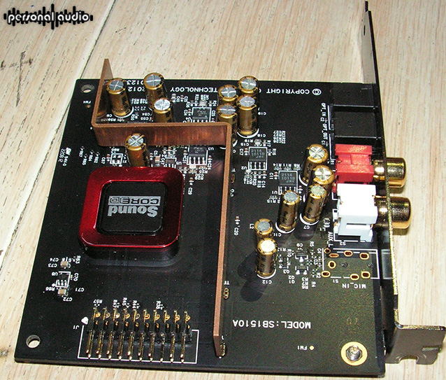 Sound Card Sound Blaster ZxR inside