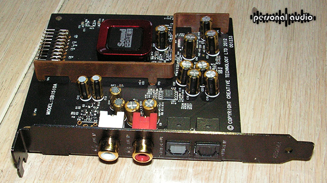 Sound Blaster ZxR daughter board inside