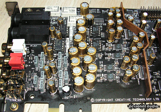 Sound Card Sound Blaster ZxR DAC inside